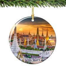 amazon com bangkok thailand christmas ornament porcelain 2 75