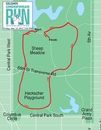 Central Park New York Map by Gildan Underwear Run