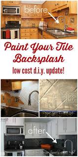 Kitchen Tile Designs For Backsplash How To Paint A Tile Backsplash My Budget Solution Designer Trapped