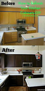 Restaining Kitchen Cabinets Best 25 Restaining Kitchen Cabinets Ideas On Pinterest How To
