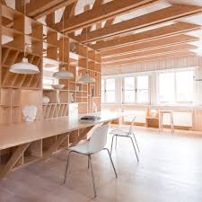 artist u0027s studio by ruetemple is designed in a single wooden unit