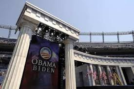 Image result for obama greek columns teleprompter pics