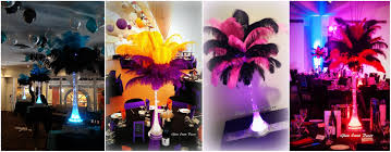 Eiffel Tower Vases Centerpieces Black And Orange Ostrich Feathers In 80cm Clear Eiffel Tower Vase