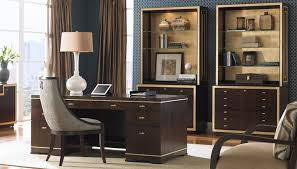 Decorating A Home Office Executive Teak Desk With Nice Chair For Amazing Home Office