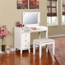 Linon Home Decor Vanity Set With Butterfly Bench Black Linon Eva 2 Piece Vanity Set In White 580456wht01u