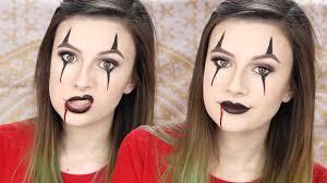 creepy clown makeup tutorial easy halloween youtube