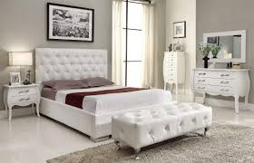 White Bedroom Collections Stylish Leather High End Elite Furniture With Extra Storage