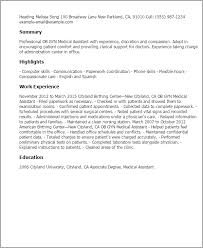 Scholarship Resume Examples by Professional Ob Gyn Medical Assistant Templates To Showcase Your