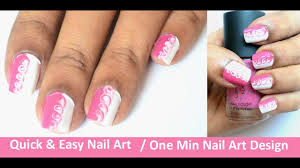 quick u0026 easy nail art video one minute nail art design youtube
