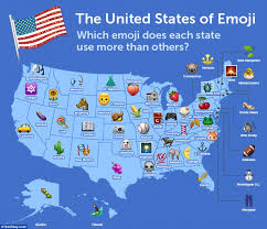 A Map Of America by The United States Of Emoji Map Reveals Vermont Is The