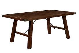 amazon com furniture of america zaria 7 piece industrial dining