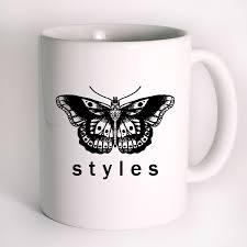 harry styles tattoo butterfly one direction mug design mug