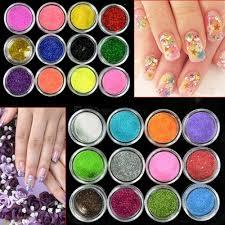 many color nail art dust glitter powder diy decoration uv acrylic