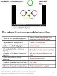 Ancient greece  Game and Activities on Pinterest Pinterest FREE Olympics  Here are   research questions  along with a Venn diagram  to