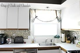easy diy self adhesive faux tile backsplash days of chalk and