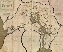 Morrowind Map Drath Samid Hand Painted Map Of Cyrodiil At Oblivion Nexus Mods