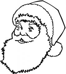 santa claus face coloring pages aecost net aecost net