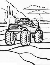 Old Ford Truck Coloring Pages - free printable monster truck coloring pages for kids 4162