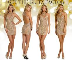 sparkly short party dress for the new years and prom camille la vie