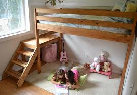 Plans For Building Bunk Beds by Ana White Camp Loft Bed With Stair Junior Height Diy Projects