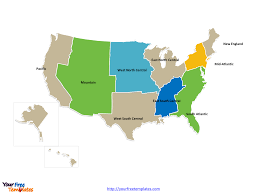 Map Of The New England States by Free Usa Region Powerpoint Map Free Powerpoint Templates