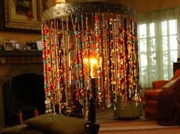 bohemian beaded lamp diy