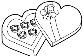 chocolate for valentines day coloring pages valentine coloring