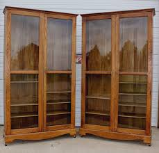 antique oak bookcase with glass doors jeanne u0027s antiques crofton nebraska