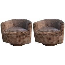 Swivel Chair Base Pair Of Milo Baughman Thayer Coggin Barrel Arm Swivel Chairs With