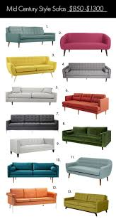 the ultimate mid century style sofa guide u2013 a beautiful mess