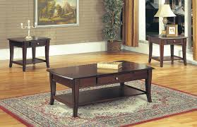 Simple Coffee Table by Classic Dark Brown Coffee Table U0026 End Tables 3pc Set W Drawer