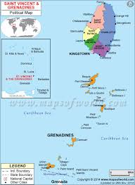 Map Of South America And Caribbean by Of St Vincent And The Grenadines
