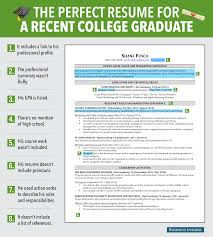perfect example of a resume excellent resume for recent grad business insider perfect resume for a recent college graduate graphic