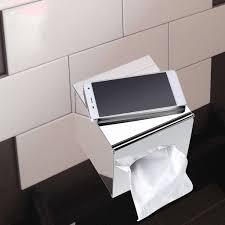 wall mounted kleenex holder amazon com sumnacon stainless steel tissue box holder wall