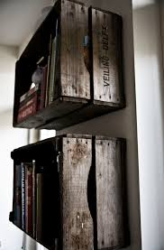 Wooden Crate Bookshelf Diy by