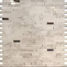SampleStainless Steel Carrara White Marble Stone Mosaic Tile - Carrara tile backsplash