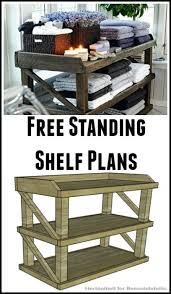 Simple Free Standing Shelf Plans by 211 Best Home Projects Images On Pinterest Cheap Landscaping
