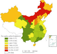 Map Of China Provinces Spatial Differences And Multi Mechanism Of Carbon Footprint Based