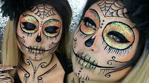 The 15 Best Sugar Skull Makeup Looks For Halloween Halloween by Glitter Sugar Skull Makeup Tutorial Halloween Makeup Glamoween