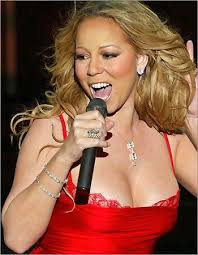 Pop star Mariah Carey,