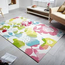 Coloured Rug Sommer Aster Rugs Feature A Stunning Bloom Of Flowers With A Water