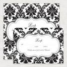 classic damask rsvp card - printable file - i do it yourself