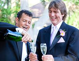 Gay dating in the UK  meet educated  eligible compatible singles     EliteSingles Two men celebrate their wedding and pour champagne into two glasses