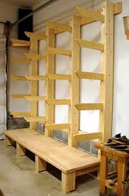 Rolling Wood Storage Rack Plans by Easy Portable Lumber Rack Free Diy Plans Lumber Rack