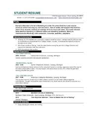 Current College Student Resume Sample by Resume Template For College Student Still In Templates