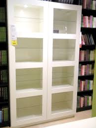 Ikea Bookcase White by Awesome Ikea Bookshelves With Glass Doors Appealing New Empty