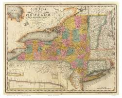 New York County Map by Prints Of Old New York State Maps