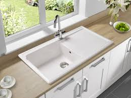 kitchen sinks kitchen sink faucet moves faucet hole cover white