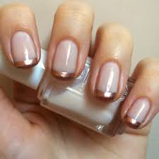 nails always polished rose gold french manicure essie adore a