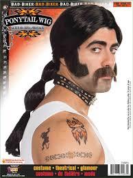 halloween mens wigs men biker wig pony tail 23 99 the costume land